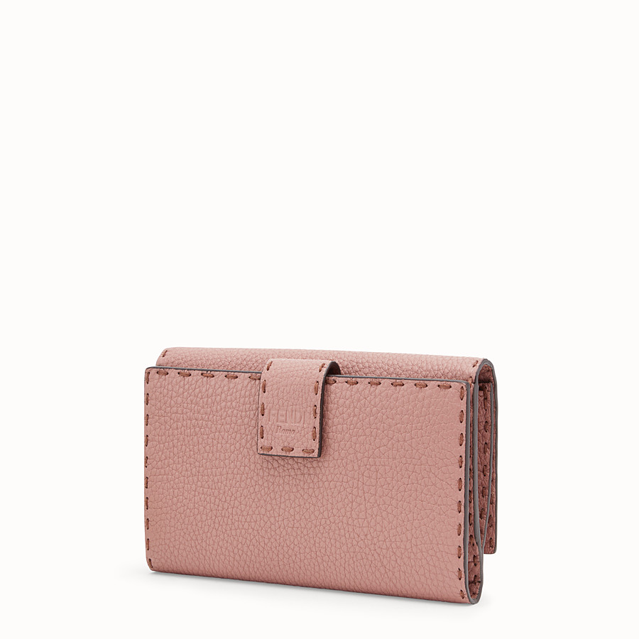 FENDI CONTINENTAL - Pink leather wallet - view 2 detail