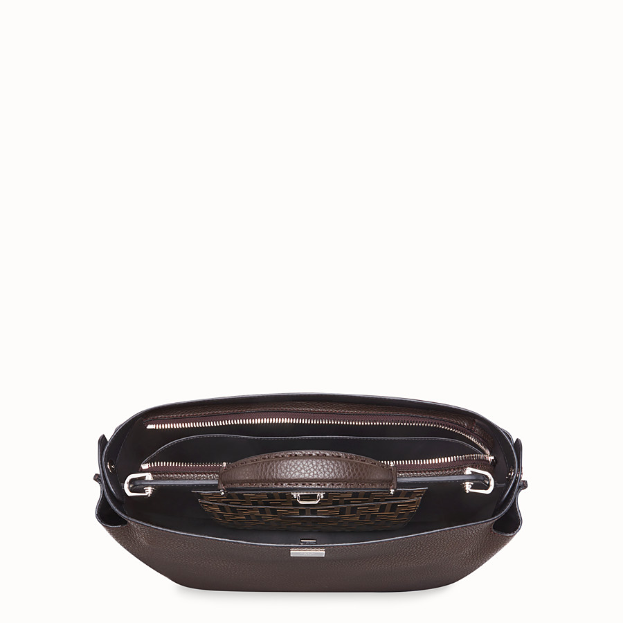 FENDI PEEKABOO ICONIC ESSENTIAL - Brown calf leather bag - view 4 detail