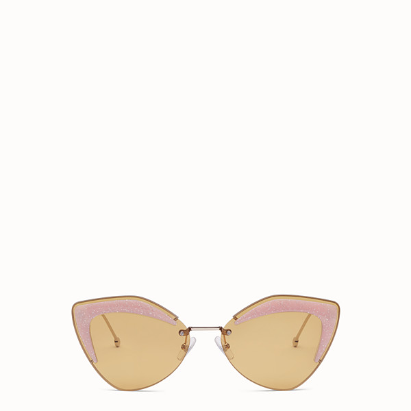 FENDI FENDI GLASS - Gold-coloured sunglasses - view 1 small thumbnail