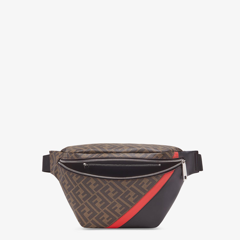 FENDI BELT BAG - Brown fabric belt bag - view 4 detail