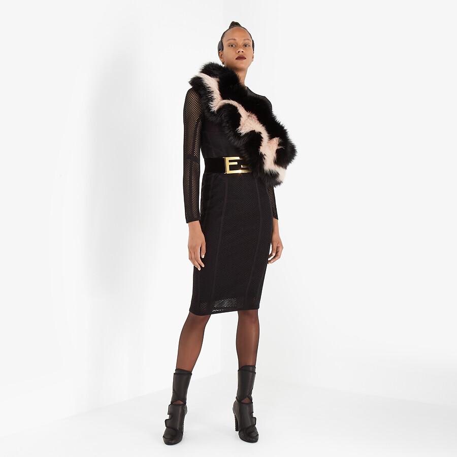FENDI SKIRT - Black mesh skirt - view 4 detail