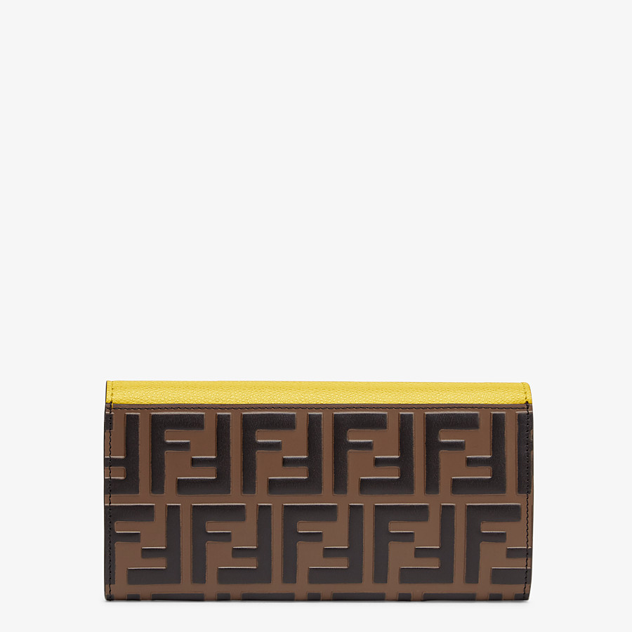 FENDI CONTINENTAL WITH CHAIN - Yellow leather wallet - view 3 detail