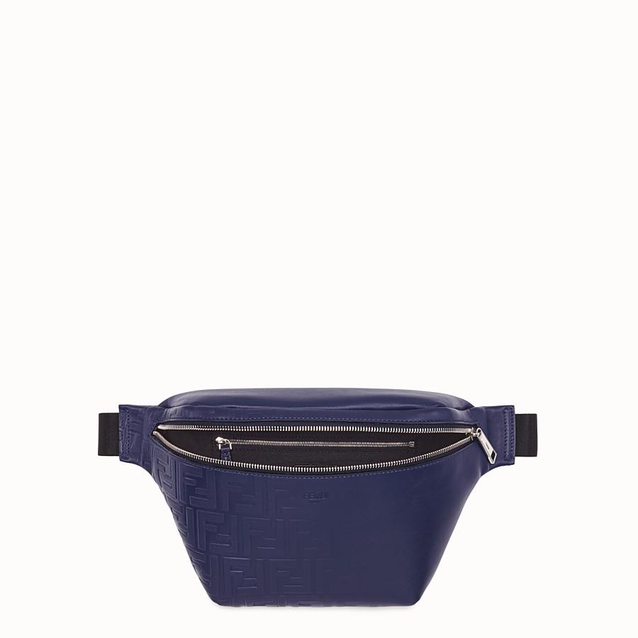 FENDI BELT BAG - Blue calfskin belt bag - view 4 detail