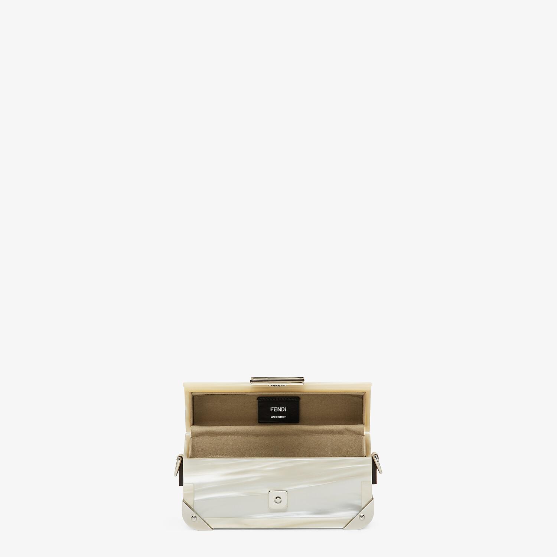 FENDI BAGUETTE TRUNK MINI - Mother of pearl plexiglass bag - view 4 detail