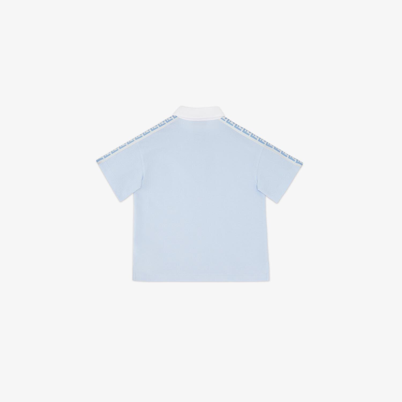 FENDI JUNIOR POLOSHIRT - Junior Poloshirt aus Piqué in Hellblau - view 2 detail