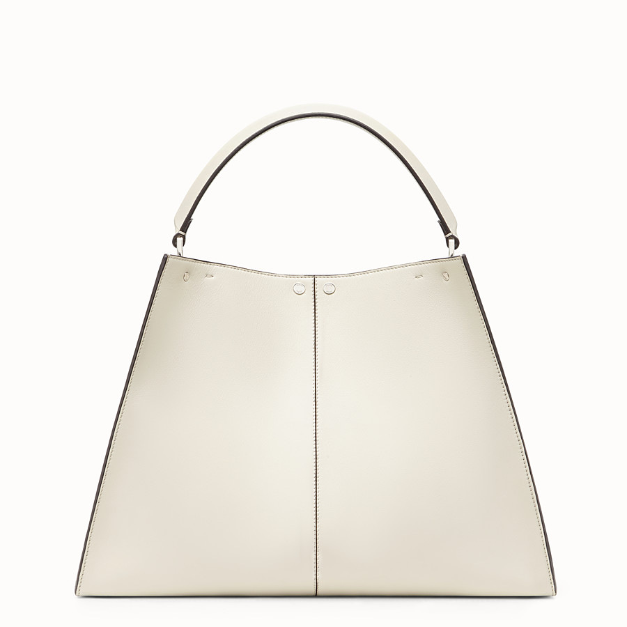 FENDI PEEKABOO X-LITE LARGE - White leather bag - view 5 detail