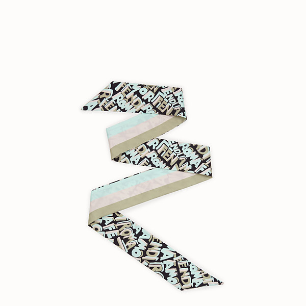 FENDI WRAPPY - Bandeau en soie verte - view 1 small thumbnail