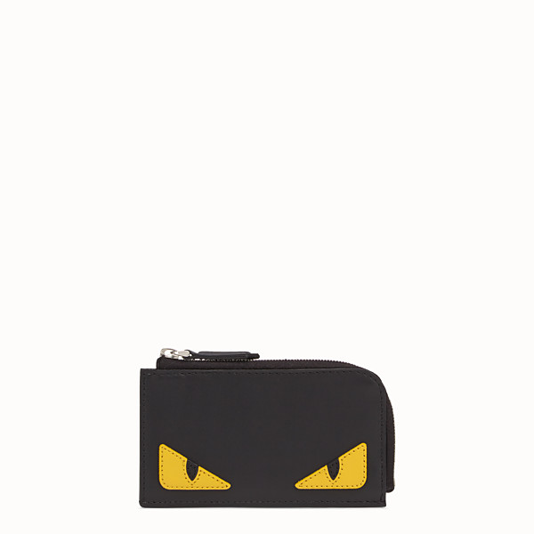FENDI COIN PURSE - Black leather pouch - view 1 small thumbnail