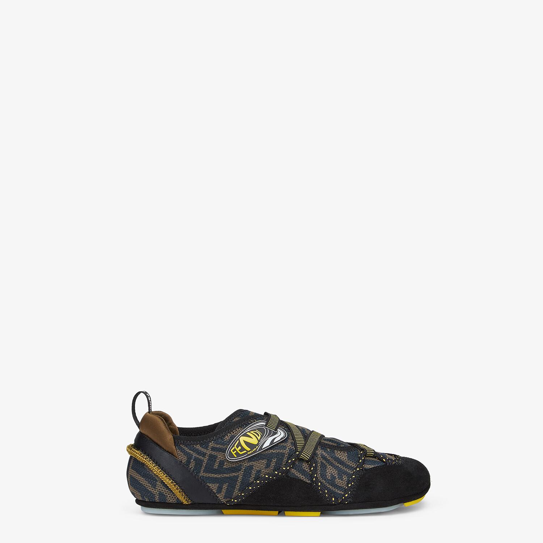 FENDI FENDI FLEX - Black suede sneakers - view 1 detail