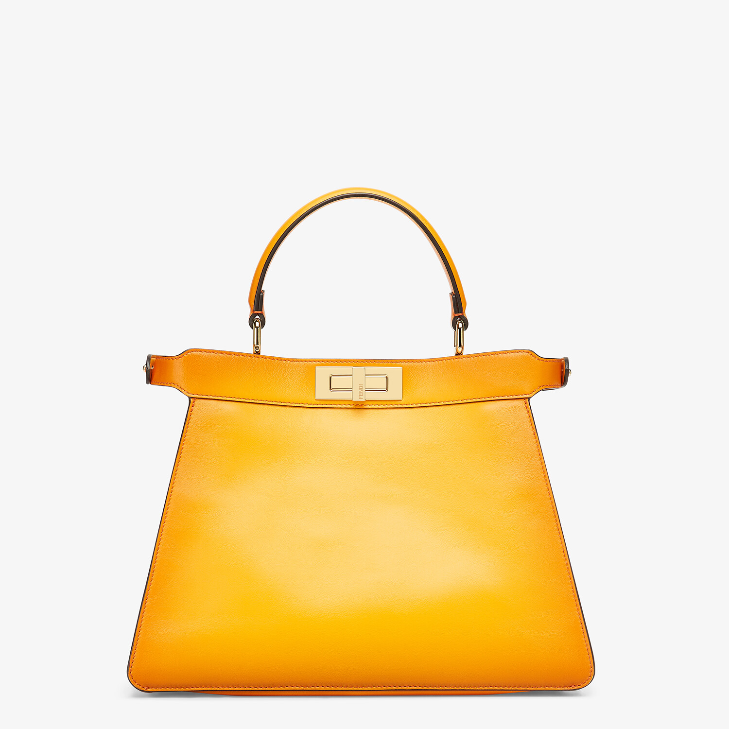 FENDI PEEKABOO ISEEU MEDIUM - Orange leather bag - view 5 detail