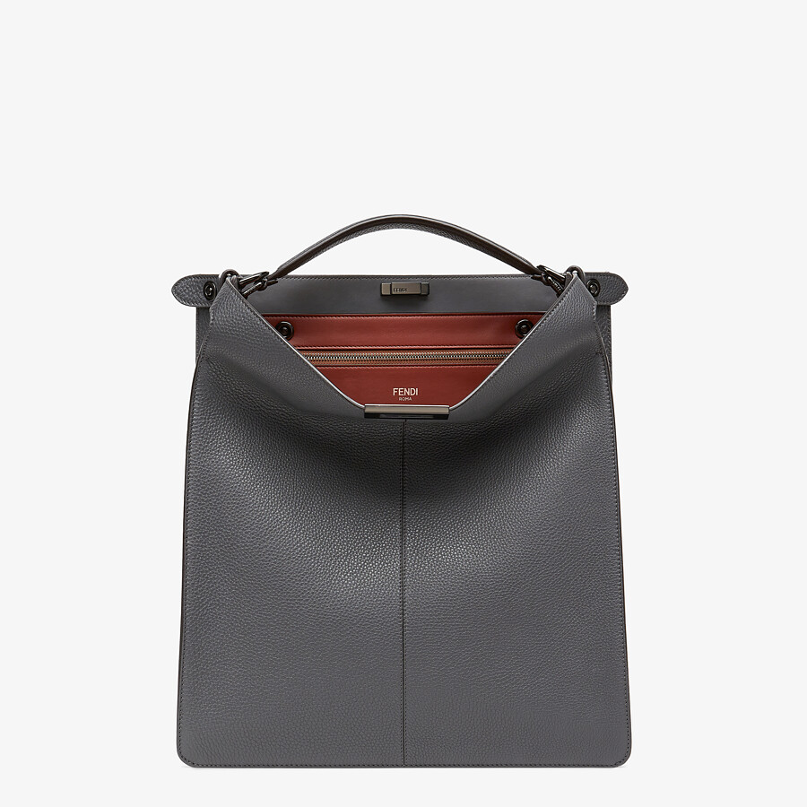 FENDI PEEKABOO ISEEU TOTE - Gray leather bag - view 2 detail
