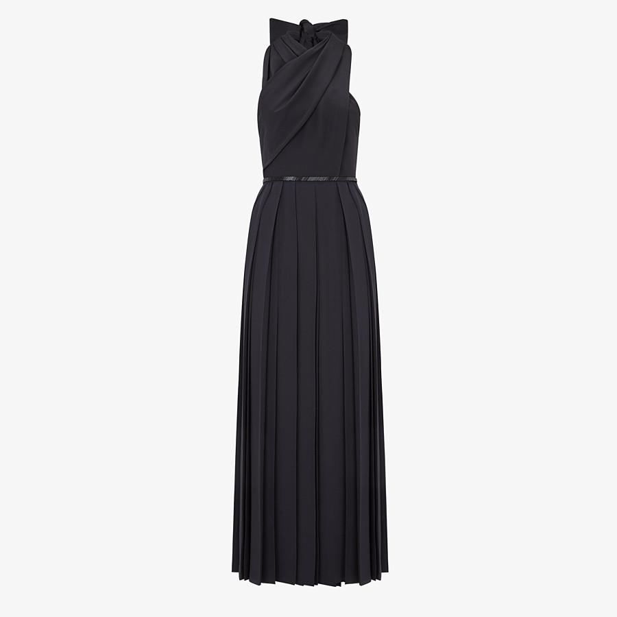 FENDI DRESS - Black silk crêpe de Chine dress - view 1 detail