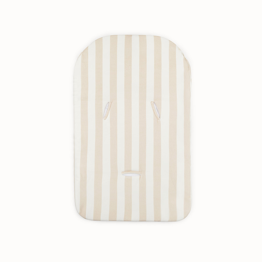 FENDI BABY SLEEPING BAG - Ivory and beige cotton and chenille baby sleeping bag - view 2 detail