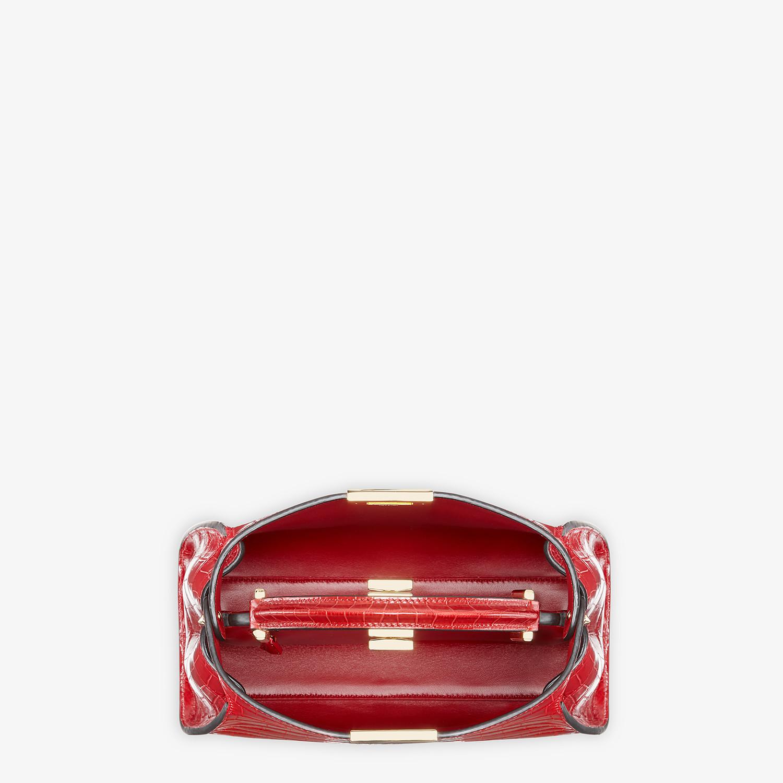 FENDI PEEKABOO ICONIC ESSENTIALLY - Red crocodile leather bag - view 4 detail