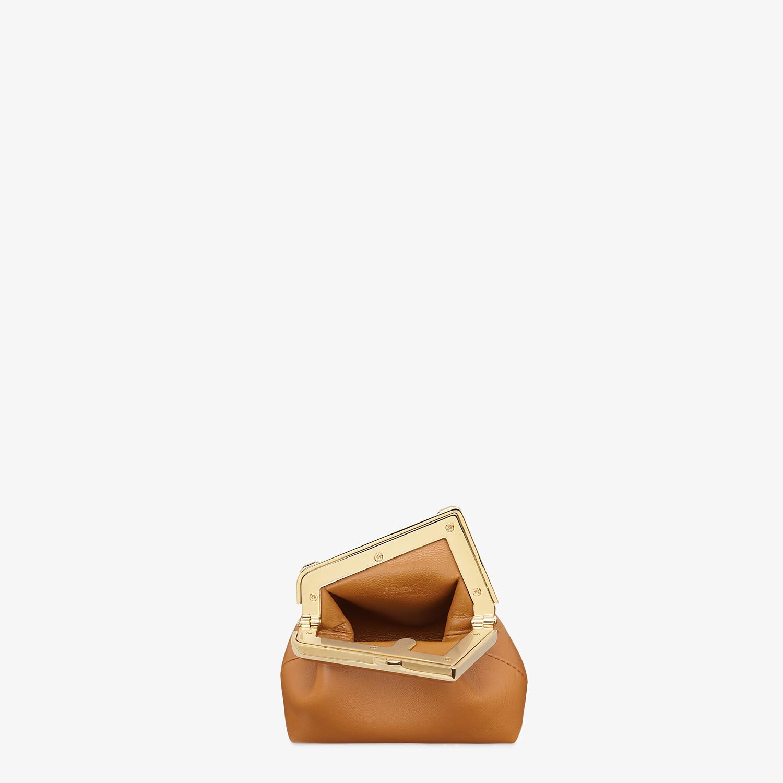 FENDI NANO FENDI FIRST CHARM - Brown nappa leather charm - view 4 detail