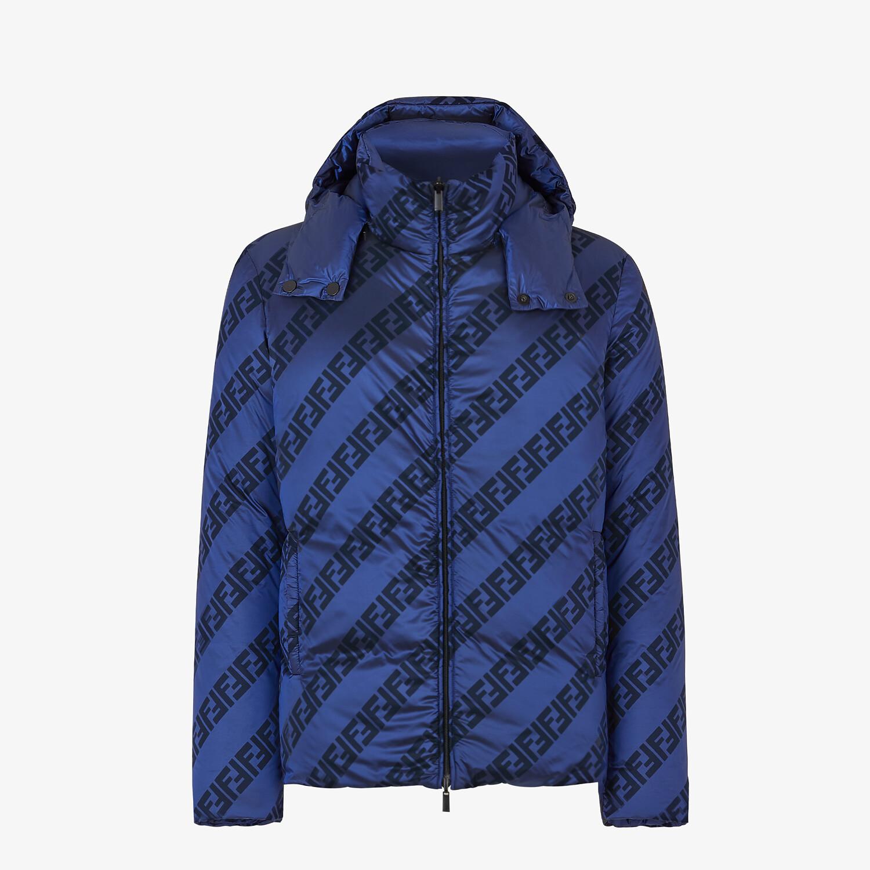 FENDI DOWN JACKET - Blue nylon down jacket - view 4 detail