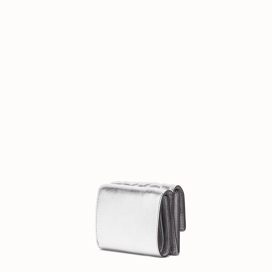 FENDI MICRO TRIFOLD - Silver leather wallet - view 2 detail