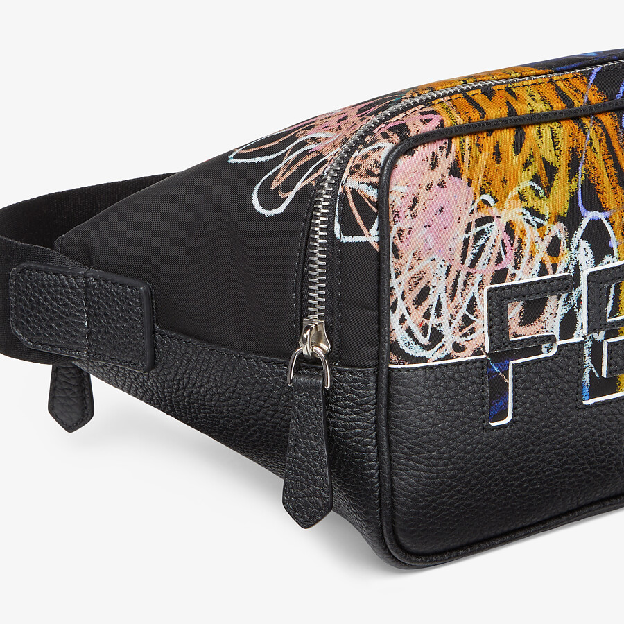 FENDI BELT BAG - Multicolor nylon and leather bag - view 5 detail