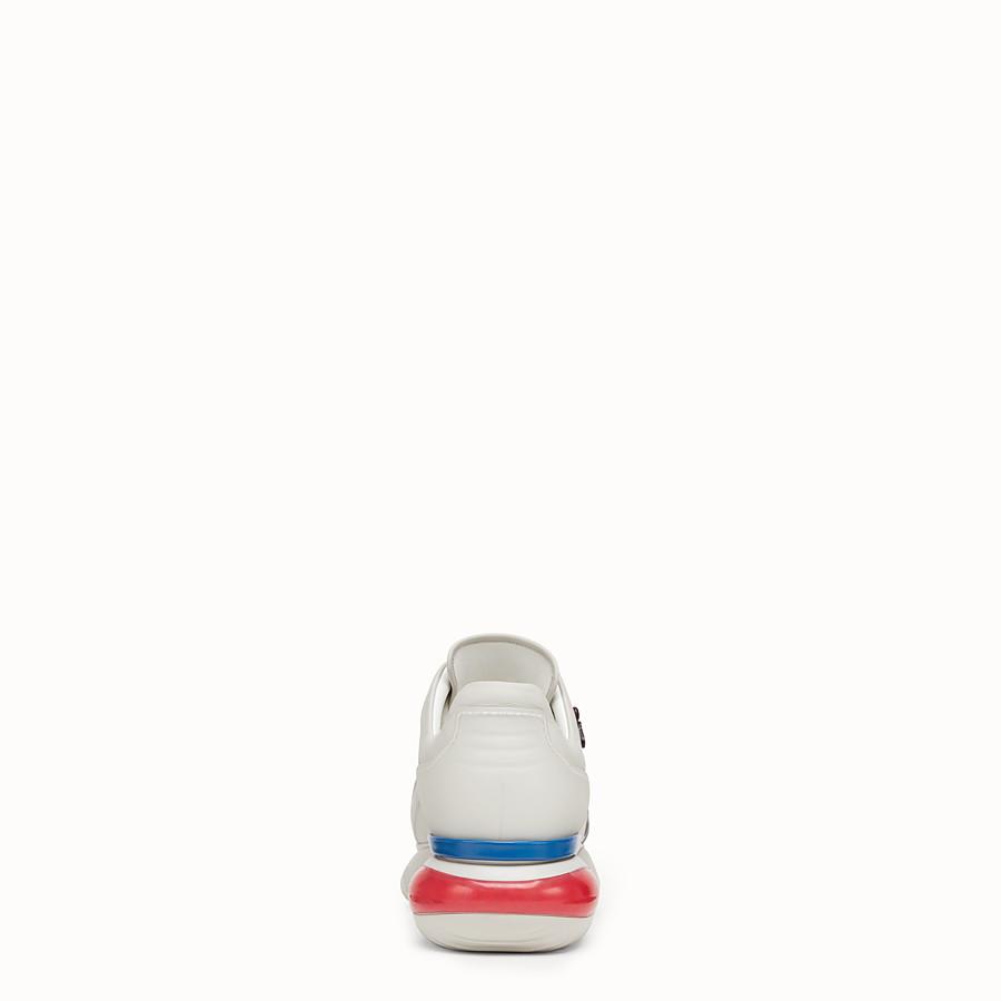 FENDI SNEAKER - Sneaker in pelle bianca - vista 3 dettaglio