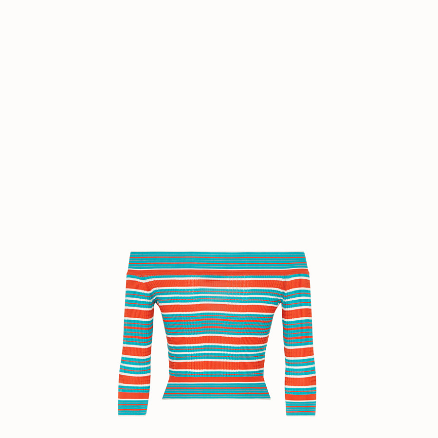 FENDI PULLOVER - Multicolour silk jumper - view 2 detail