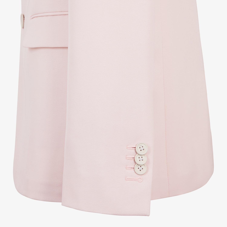 FENDI JACKET - Pink wool blazer - view 4 detail