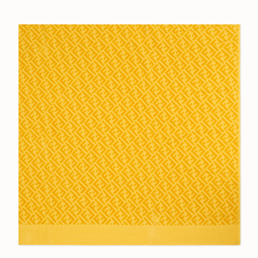 FENDI BEACH TOWEL - Yellow cotton beach towel - view 3 detail