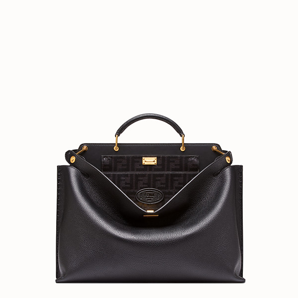 FENDI PEEKABOO ESSENTIAL - Black leather bag - view 1 small thumbnail