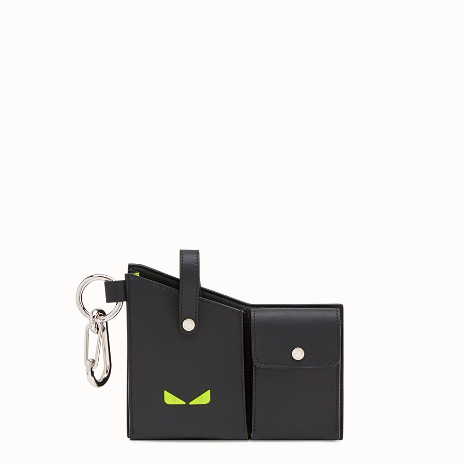 FENDI CHARM WITH POCKETS - Charm in black FF fabric - view 1 detail
