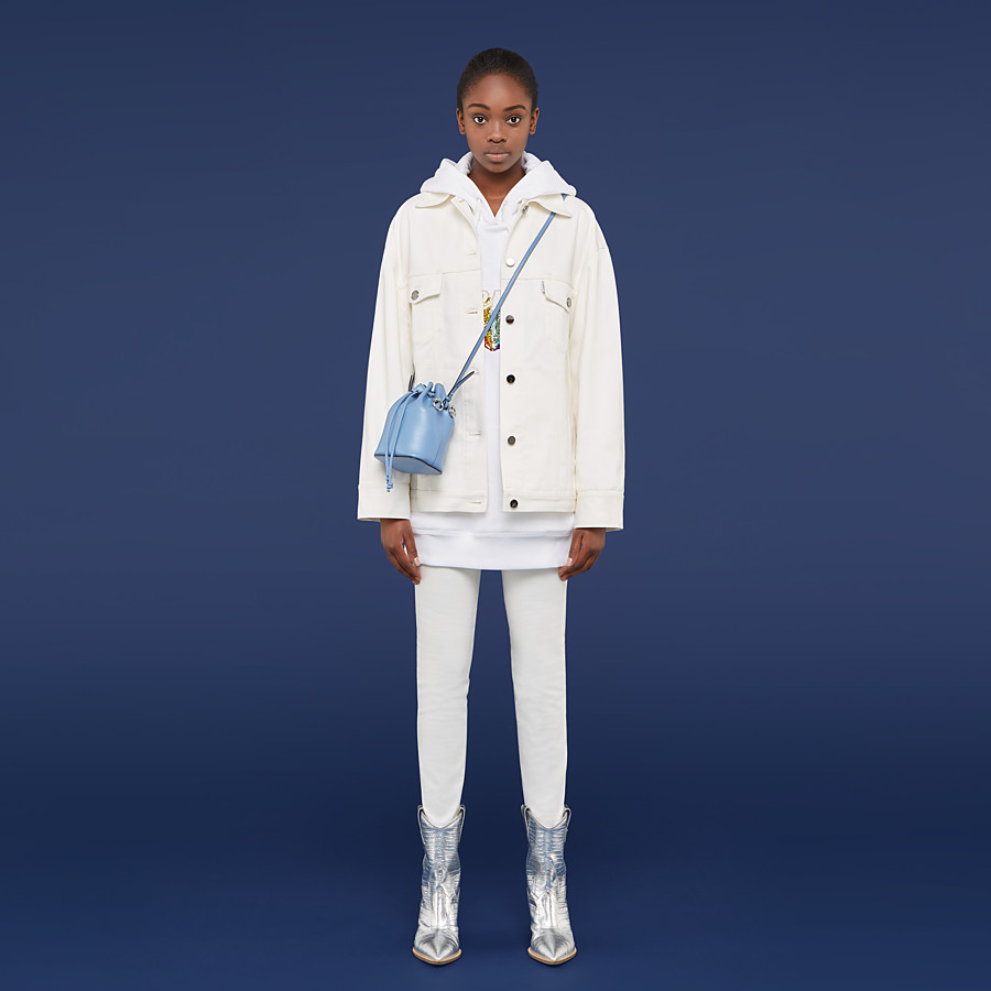 FENDI JACKET - White denim jacket - view 4 detail