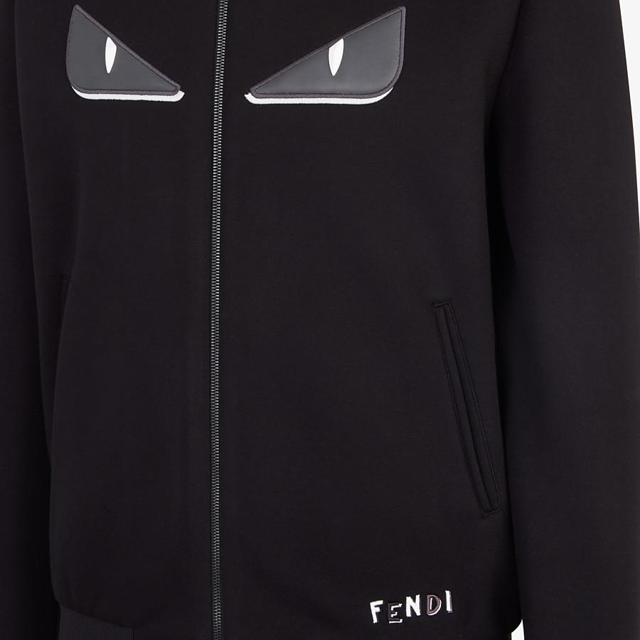 FENDI BOMBER - Black fabric jacket - view 3 detail