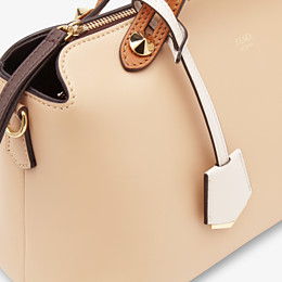 FENDI BY THE WAY MEDIUM - Beige leather Boston bag - view 6 thumbnail