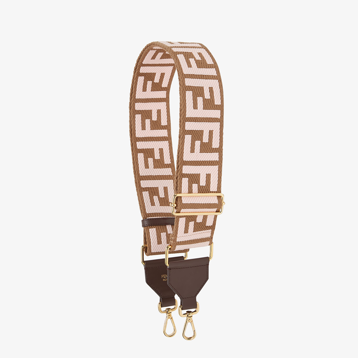 FENDI STRAP YOU - Beige ribbon shoulder strap - view 1 detail