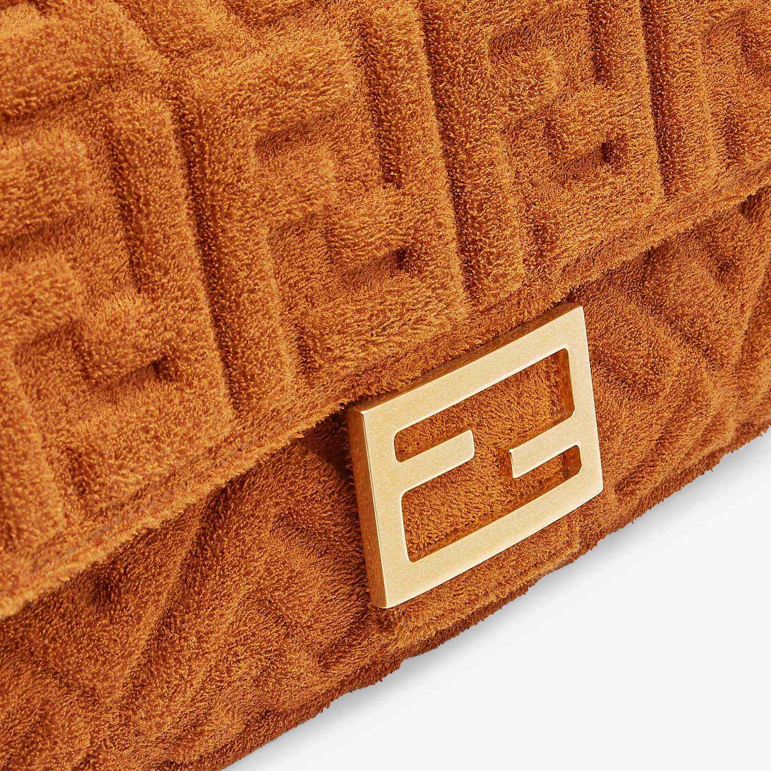 FENDI BAGUETTE - Brown terrycloth bag - view 5 detail