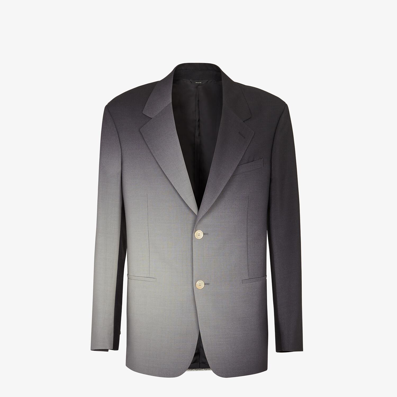 FENDI JACKET - Black wool blazer - view 1 detail