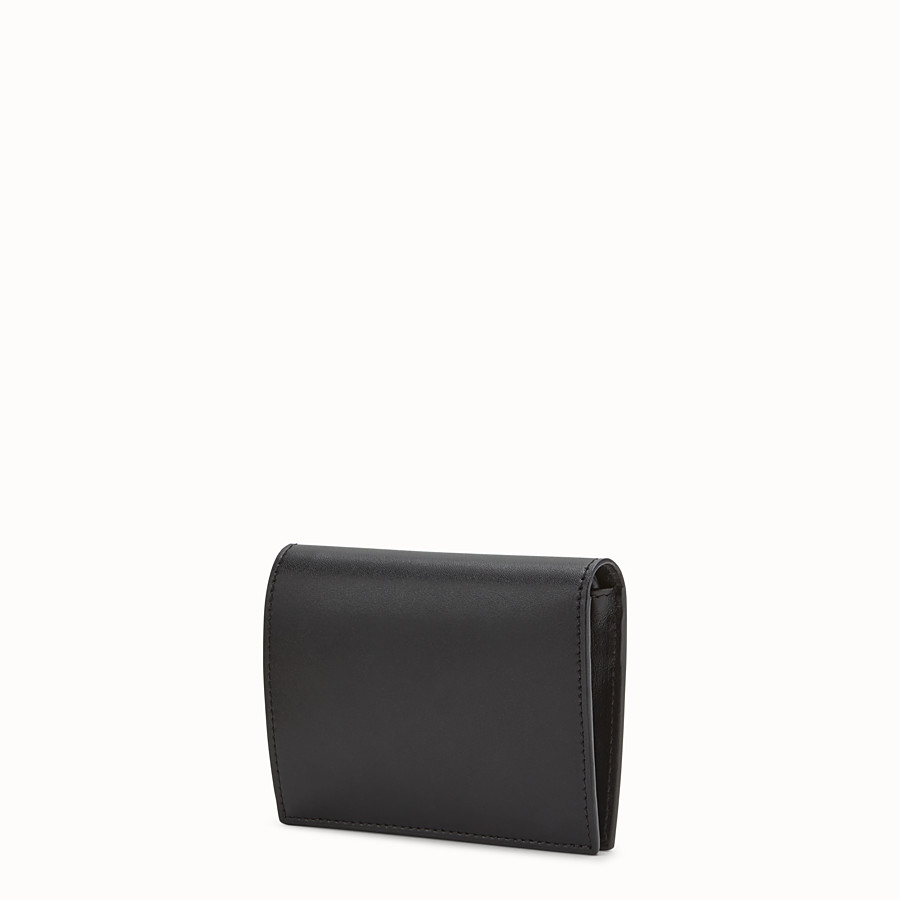 FENDI BIFOLD - Black leather compact wallet - view 2 detail