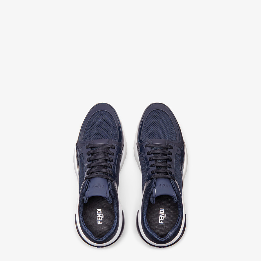 FENDI SNEAKERS - Blue tech fabric sneakers - view 4 detail
