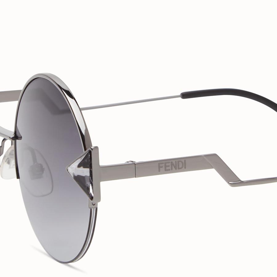 FENDI RAINBOW - Ruthenium-coloured sunglasses. - view 3 detail
