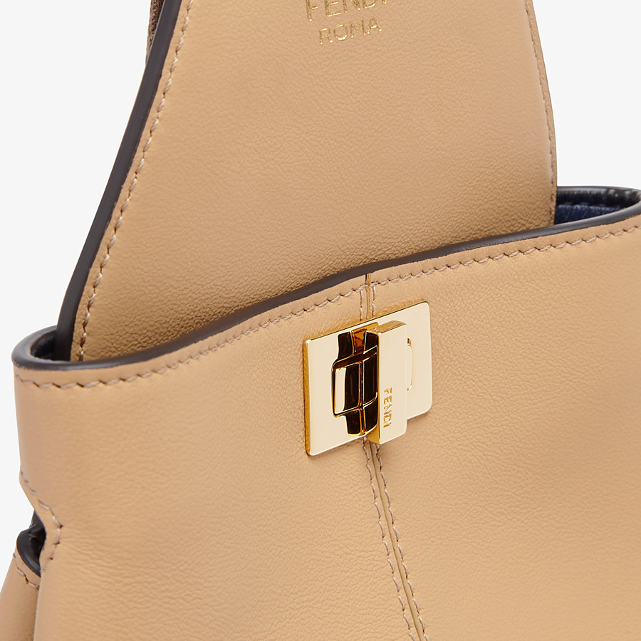 FENDI GUITAR BAG - Beige leather mini-bag - view 6 detail