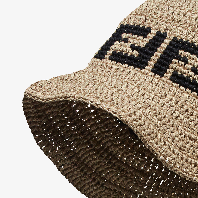 FENDI HAT - Beige cotton hat - view 2 detail