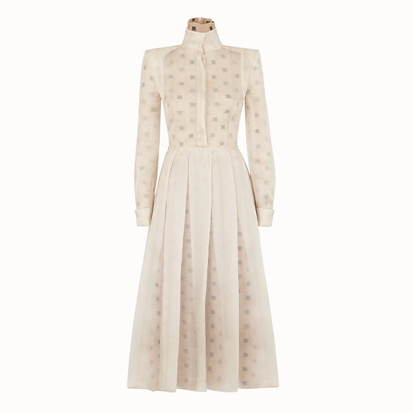 FENDI DRESS - Beige organza dress - view 1 small thumbnail