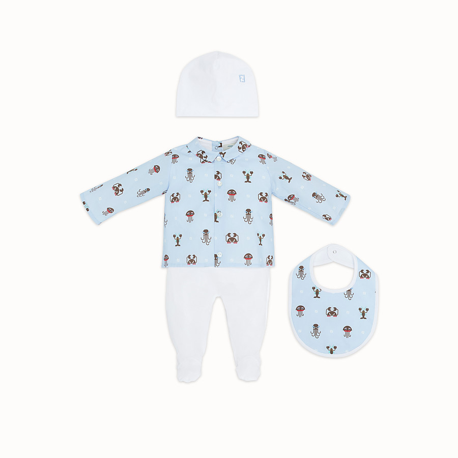 FENDI BABY KIT - Multicolour poplin and jersey baby kit - view 1 detail