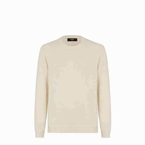 FENDI SWEATER - White cashmere sweater - view 1 small thumbnail