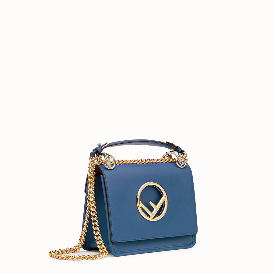 FENDI KAN I F SMALL - Dark blue leather mini-bag - view 2 detail