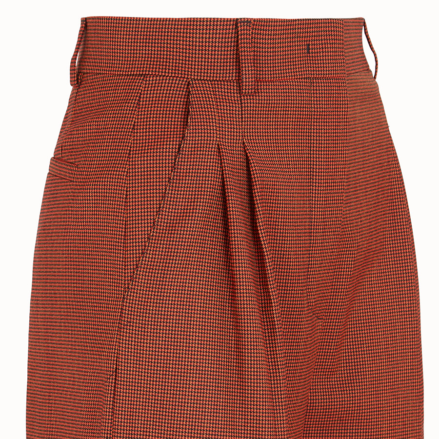 FENDI TROUSERS - Orange jacquard trousers - view 3 detail