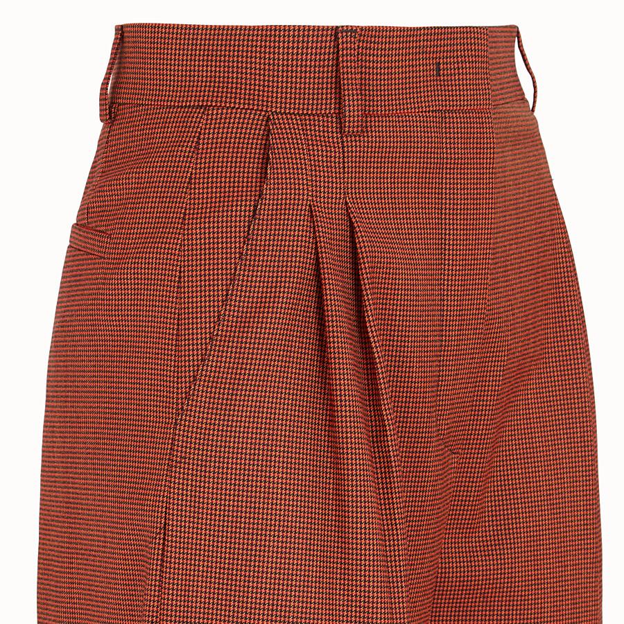 FENDI PANTALON - Pantalon en jacquard orange - view 3 detail