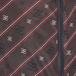 FENDI BLOUSON JACKET - Brown nylon windbreaker - view 3 thumbnail