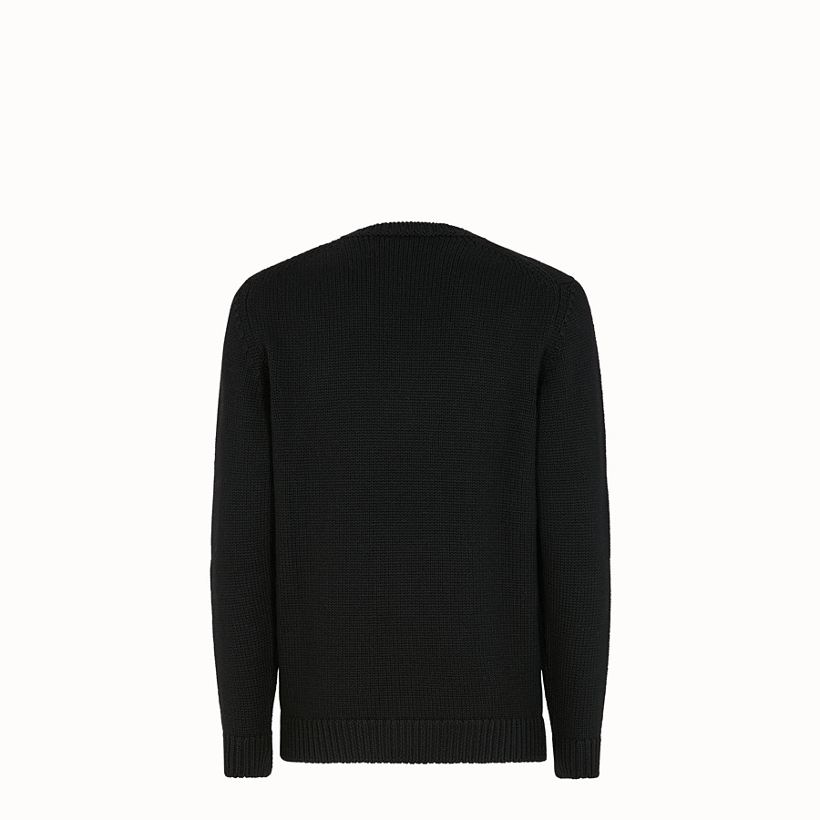 FENDI JUMPER - Black wool jumper - view 2 detail