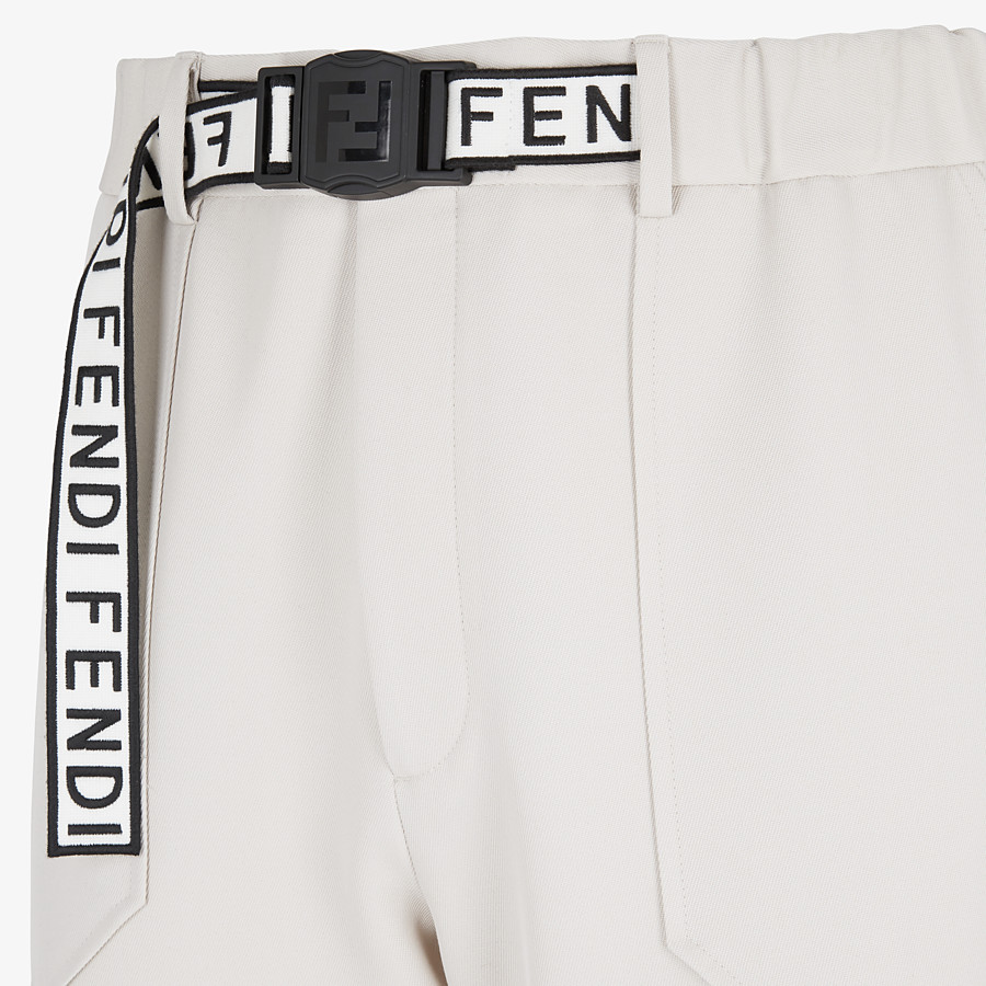 FENDI TROUSERS - White wool trousers - view 3 detail