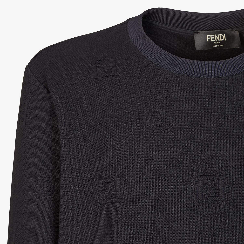 FENDI SWEATSHIRT - Black cotton sweatshirt - view 3 detail