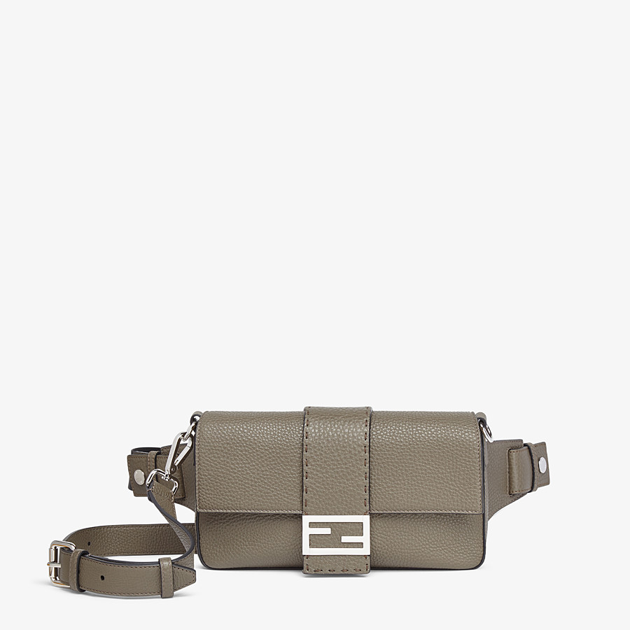 FENDI BAGUETTE - Green leather bag - view 1 detail